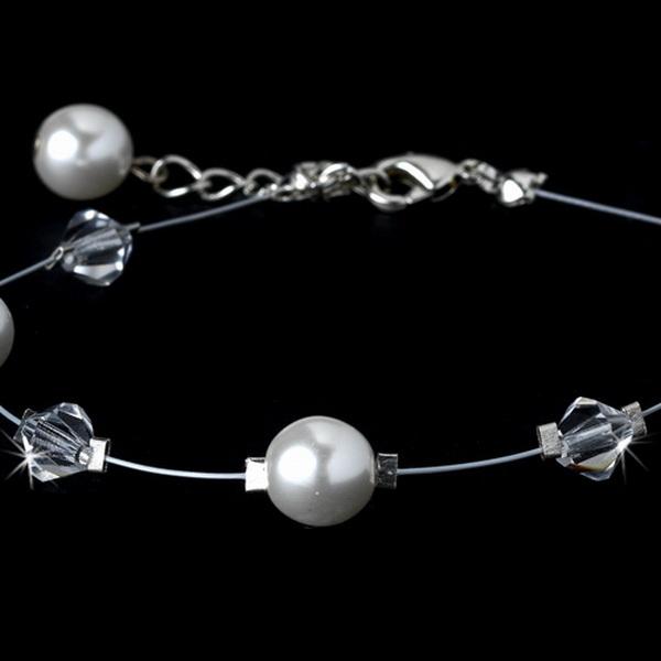 Swarovski Crystal & Pearl Bracelet 8367 White