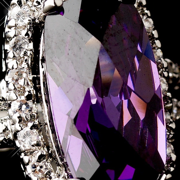 Chic Antique Silver Amethyst Ring 9236