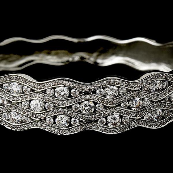 Elegant Bridal Bangle Bracelet B 8102