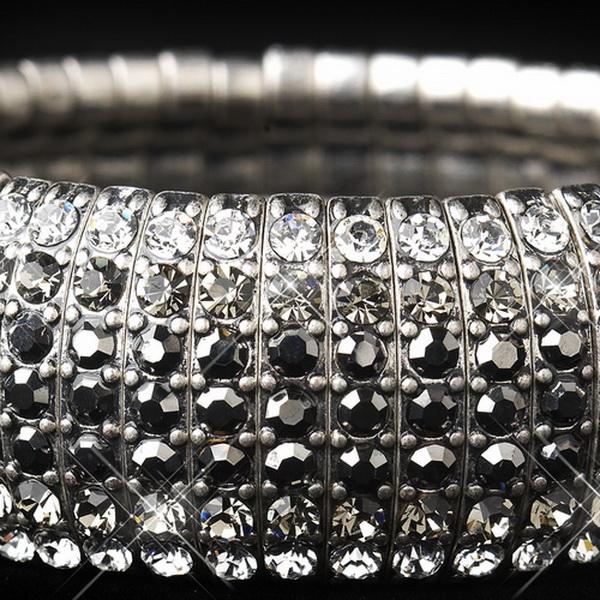 Silver Smoked Stretch Bracelet 8803