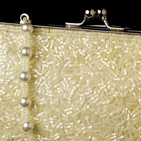 Glistening Ivory Beaded Satin Evening Bag 2022