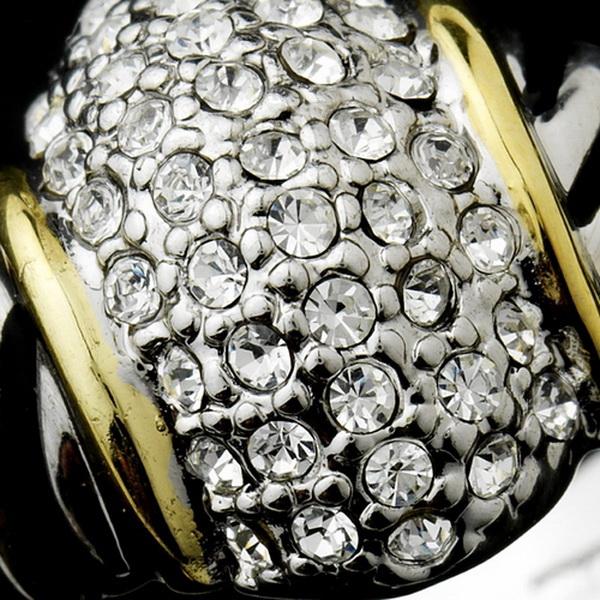 Silver Rhinestone Cluster Ring 7059