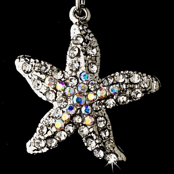 Starfish Earring Set 8502 Silver AB