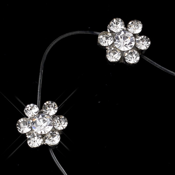 Clear Crystal Flower Anklet 1 on Illusion