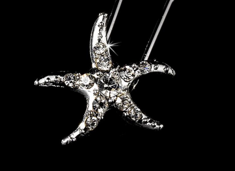 Crystal Starfish Hair Pin (Set of 2)
