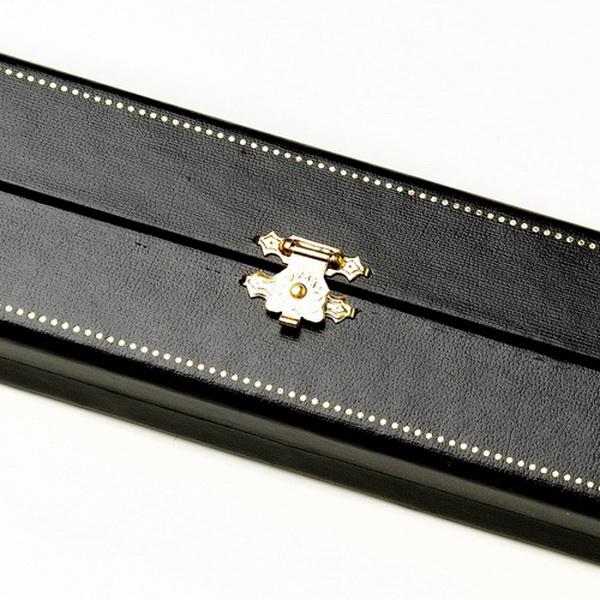Black Leatherette Gold Trim Jewelry Box 13