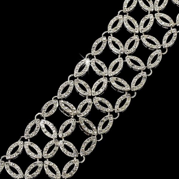 Gorgeous Silver Clear Cubic Zirconia Bracelet 2666
