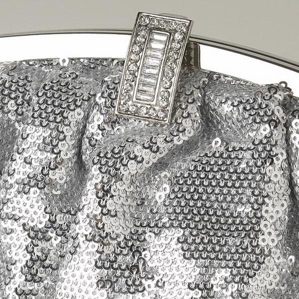 Silver Sequin & Rhinestone Evening Bag 321