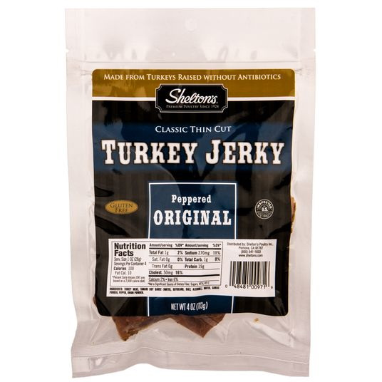 Shelton Turkey Jerky, Regular - 4 ozs.