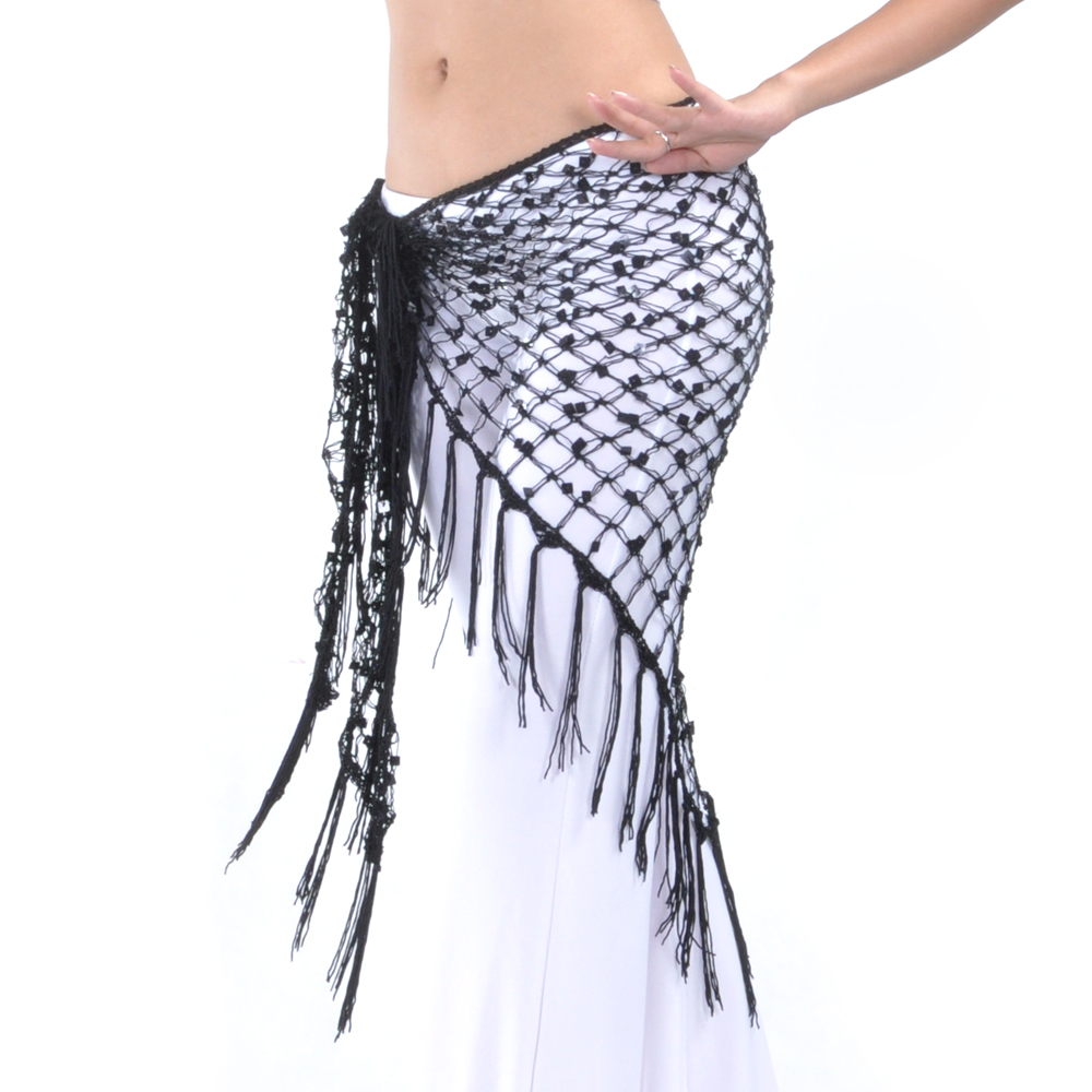 BellyLady Belly Dance Hip Scarf & Shawl, Egyptian Style Net Hip Scarf