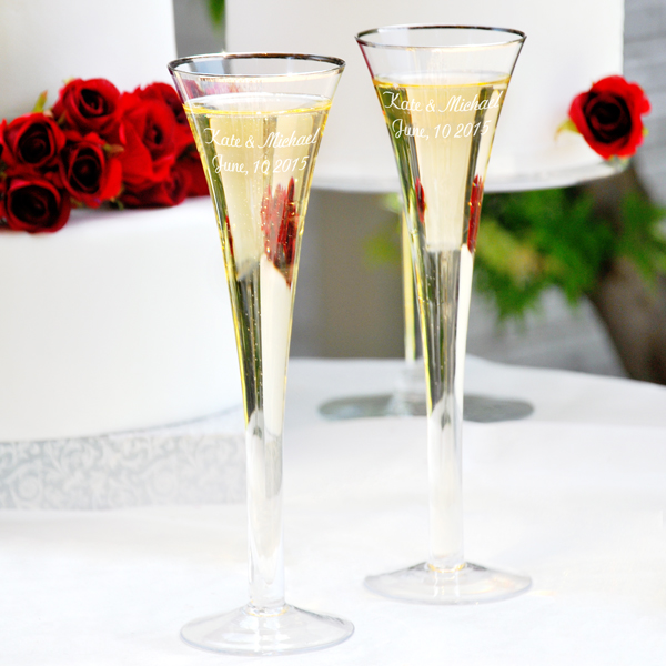Champagne Flutes One 8x10 Wedding Photograph Get Document