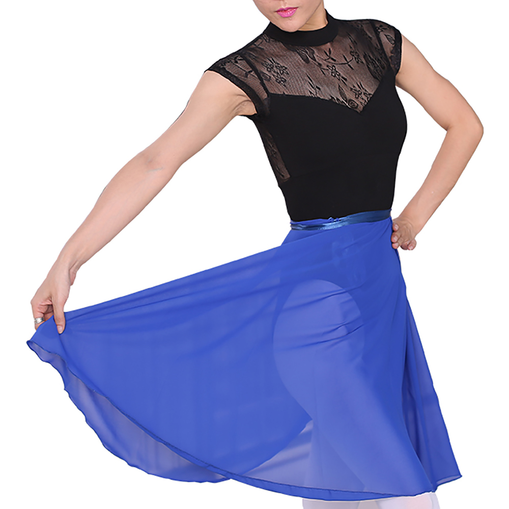 GOGO-TEAM-Adult-Sheer-Tutu-Wrap-Skirt-Long-Dress-Ballet-Dance-Dancewear-Ribbon thumbnail 14