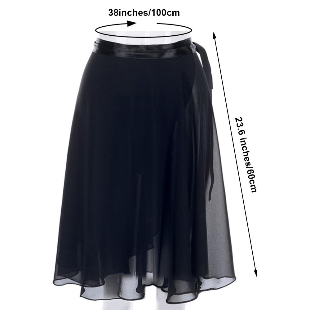 GOGO-TEAM-Adult-Sheer-Tutu-Wrap-Skirt-Long-Dress-Ballet-Dance-Dancewear-Ribbon thumbnail 11
