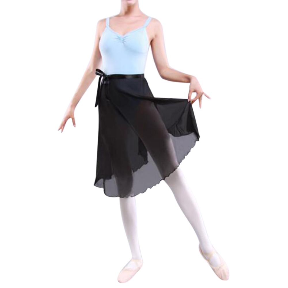 GOGO-TEAM-Adult-Sheer-Tutu-Wrap-Skirt-Long-Dress-Ballet-Dance-Dancewear-Ribbon thumbnail 8