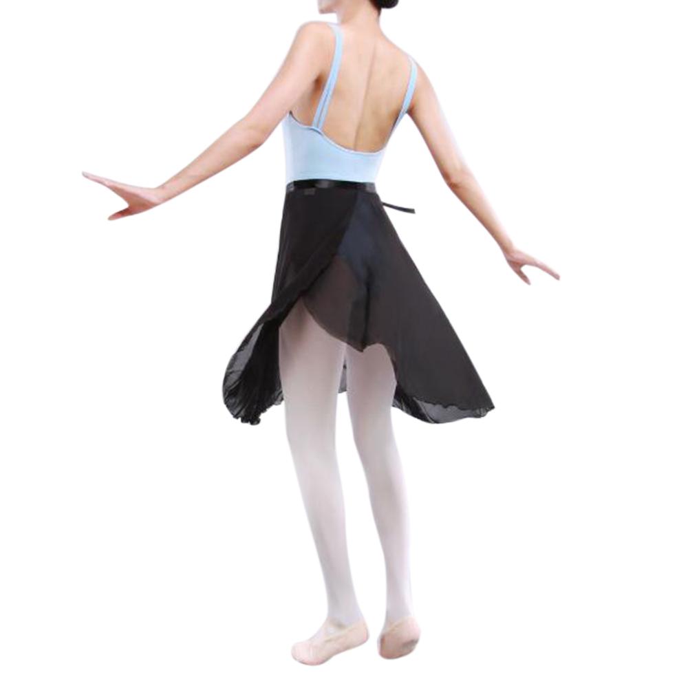 GOGO-TEAM-Adult-Sheer-Tutu-Wrap-Skirt-Long-Dress-Ballet-Dance-Dancewear-Ribbon thumbnail 9