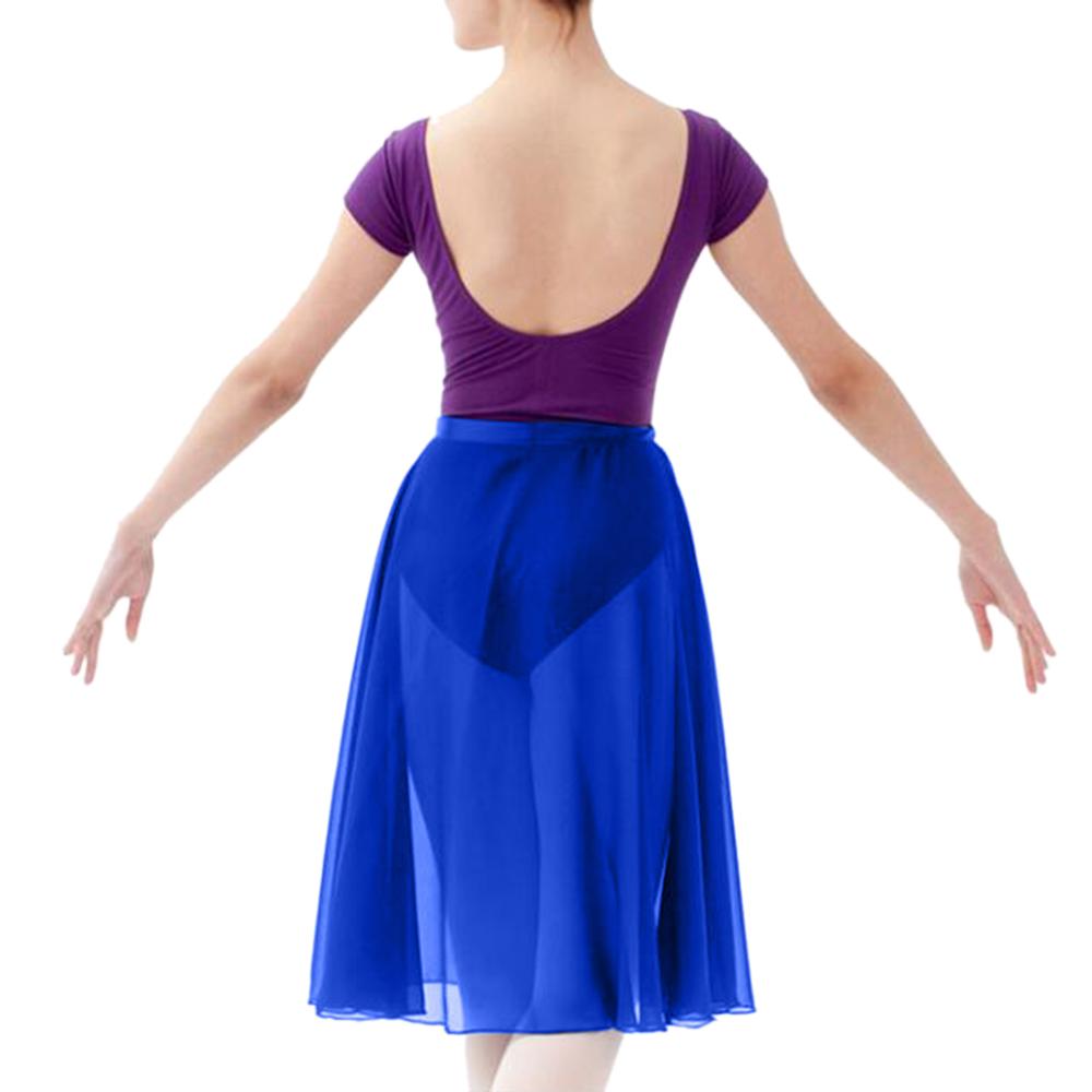 GOGO-TEAM-Adult-Sheer-Tutu-Wrap-Skirt-Long-Dress-Ballet-Dance-Dancewear-Ribbon thumbnail 13