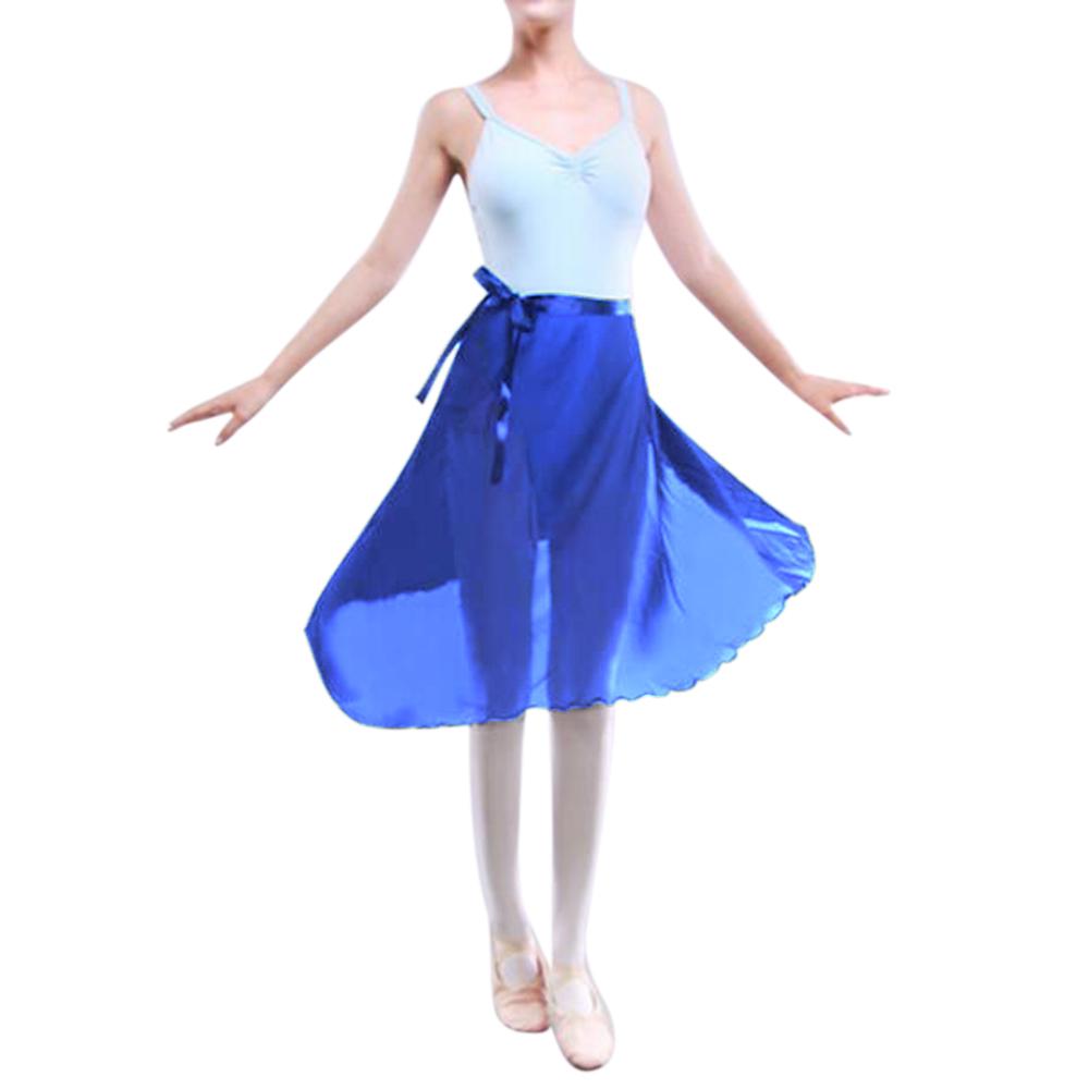 GOGO-TEAM-Adult-Sheer-Tutu-Wrap-Skirt-Long-Dress-Ballet-Dance-Dancewear-Ribbon thumbnail 15