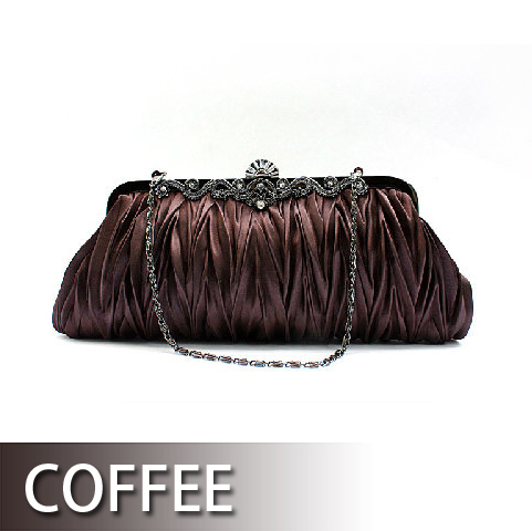 Pleated Satin Evening Handbag - Wholesale