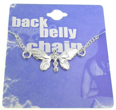 Back Belly Chain Butterfly Pierceless Body Jewelry