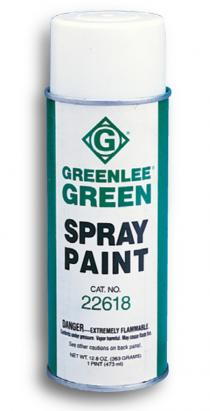 Greenlee 10378 13 oz. (384 ml) Aerosol Can of Greenlee Flat Green Spray Paint