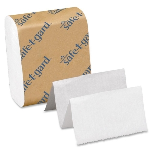 Georgia-Pacific Safe-T-Gard Interfolded Tissue, 200 Per Pack - 4&quot; x 10&quot; - White