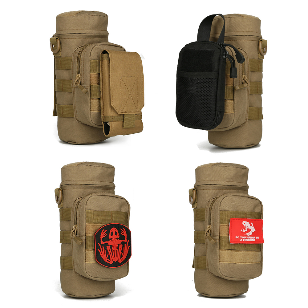 Cycling Travel Water Bag Molle Travel Water Bottle Kettle Carrier Holder Bag