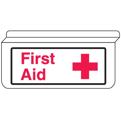 Buy ceiling aids products - Seton 13925 first aid signs - drop ceiling double-sided, Price/Each