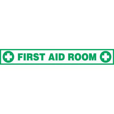Buy floor aids products - Seton aa883 first aid room floor label, Price/Each