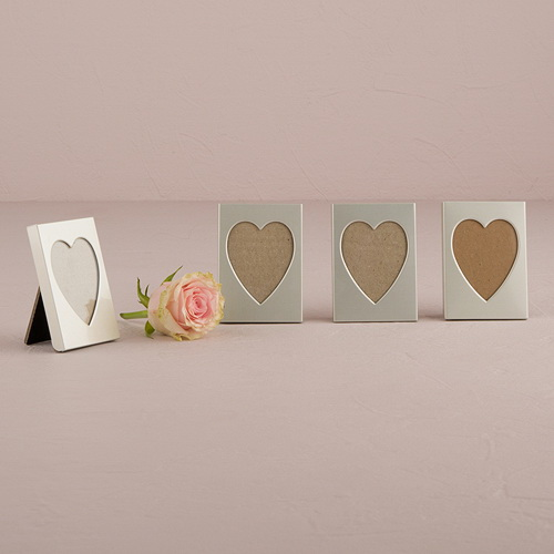 Weddingstar 8416 Mini Easel Back Aluminum Heart Photo Frame