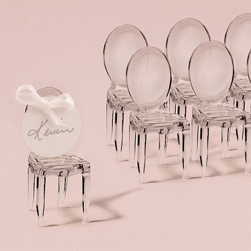 Weddingstar 9083 Miniature Clear Acrylic Phantom Chair, stickers not included