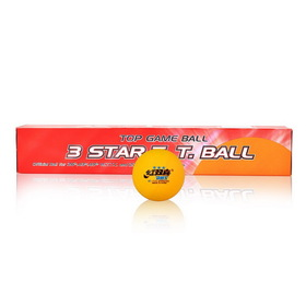 DHS ITTF Approved 3-Star 40mm Table Tennis Balls, Ping Pong Balls, 6-Pack (White / Orange), Price/tube