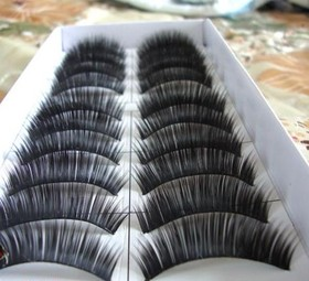 ALICE Long False Eyelashes Makeup, Professional, Black