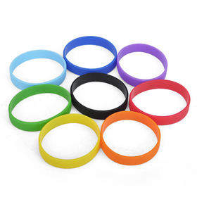 GOGO 180mm Blank Silicone Wristbands, Full of Fun Bracelets For Kids, Graduation Gift