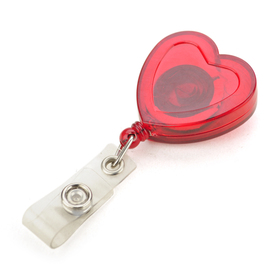 Love Heart Shape Lovely ID Badge Reel 10 PCS, Graduation Gifts