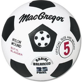 MacGregor Rubber Soccer Ball - Size 5, Price/EA