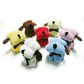 Assorted Color Little Dog Towel Favors, Gift Idea, Graduation Gift, Price/dozen