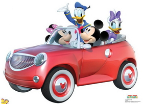Advanced Graphics 1173 Mickey Car Ride- 33&quot; x 45&quot; Cardboard Standup