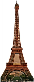 "Advanced Graphics 150 Eiffel Tower- 88"" x 36"" Cardboard Standup"