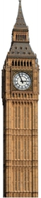 "Advanced Graphics 151 Big Ben Clock Tower- 88"" x 18"" Cardboard Standup"