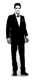 "Advanced Graphics 377 Elvis Presley-Tuxedo- 70"" x 24"" Cardboard Standup"