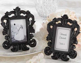 Black & White Baroque Elegant Place Card Holder, Photo Frame, Graduation Gift