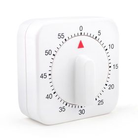 "Aspire 60-Minute ""Mini White Clock"" Kitchen Timer, Mechanical Timer, Price/Piece"
