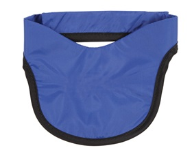 AliMed Thyroid Shield, Standard Weight Lead, Navy Blue