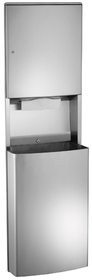 ASI 20469-9 Surface Mounted Paper Towel Dispenser And Removable Waste Receptacle
