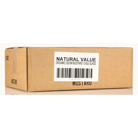 Natural Value Dijon Mustard, Organic - 12 x 8 ozs.