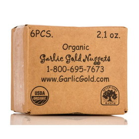 Garlic Gold Garlic Nuggets, Organic - 6 x 2.1 ozs.