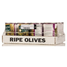 Natural Value Green Olives, Pitted, Natural - 12 x 6 ozs.