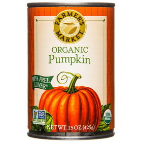 Farmer's Market Organic Pumpkin, Canned - 15 ozs.