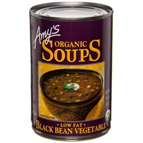 Amy's Black Bean Vegetable Soup, Organic - 14.5 ozs.