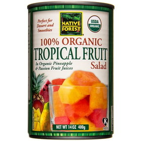 Native Forest Tropical Fruit Salad, Organic - 14 ozs.